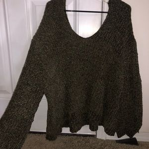 Dark green cozy sweater